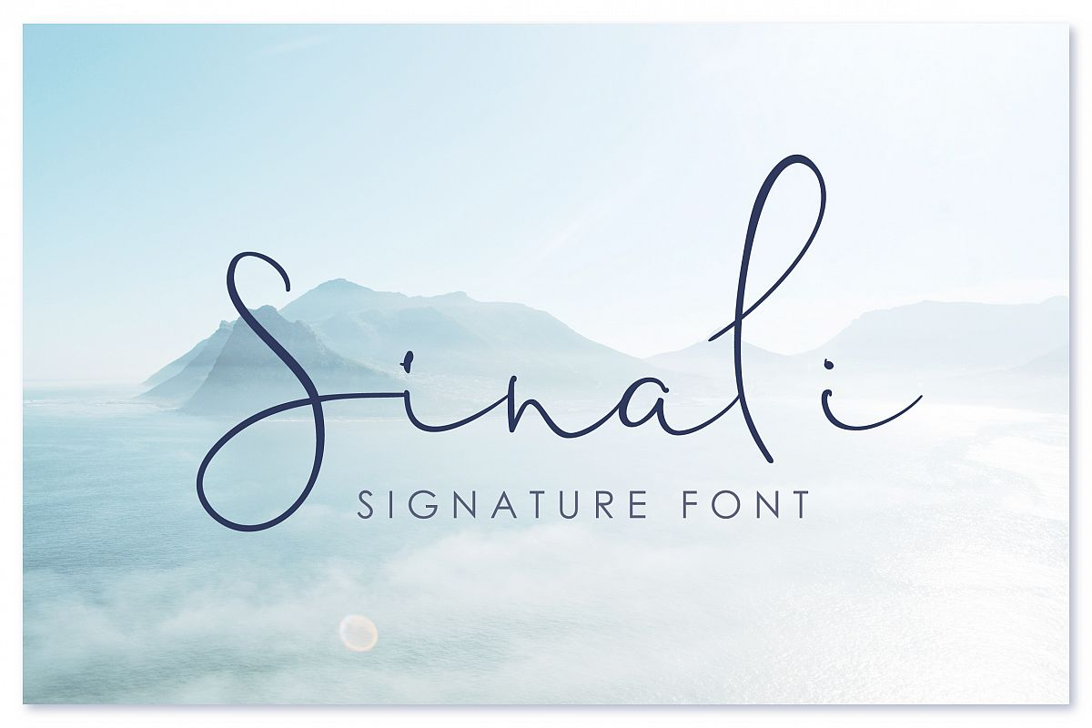 Sinali - handwritten calligraphy font example image 1