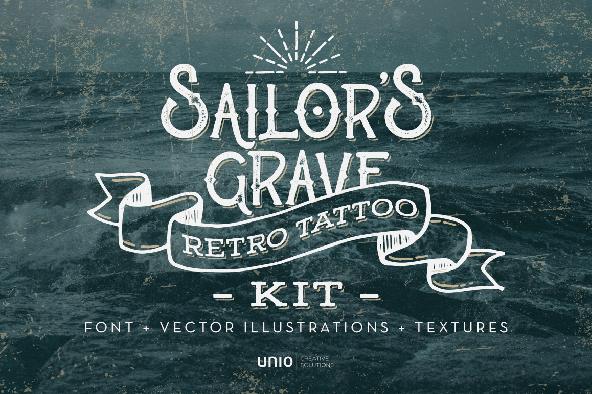 Sailor's Grave - Retro Tattoo Kit example image 1