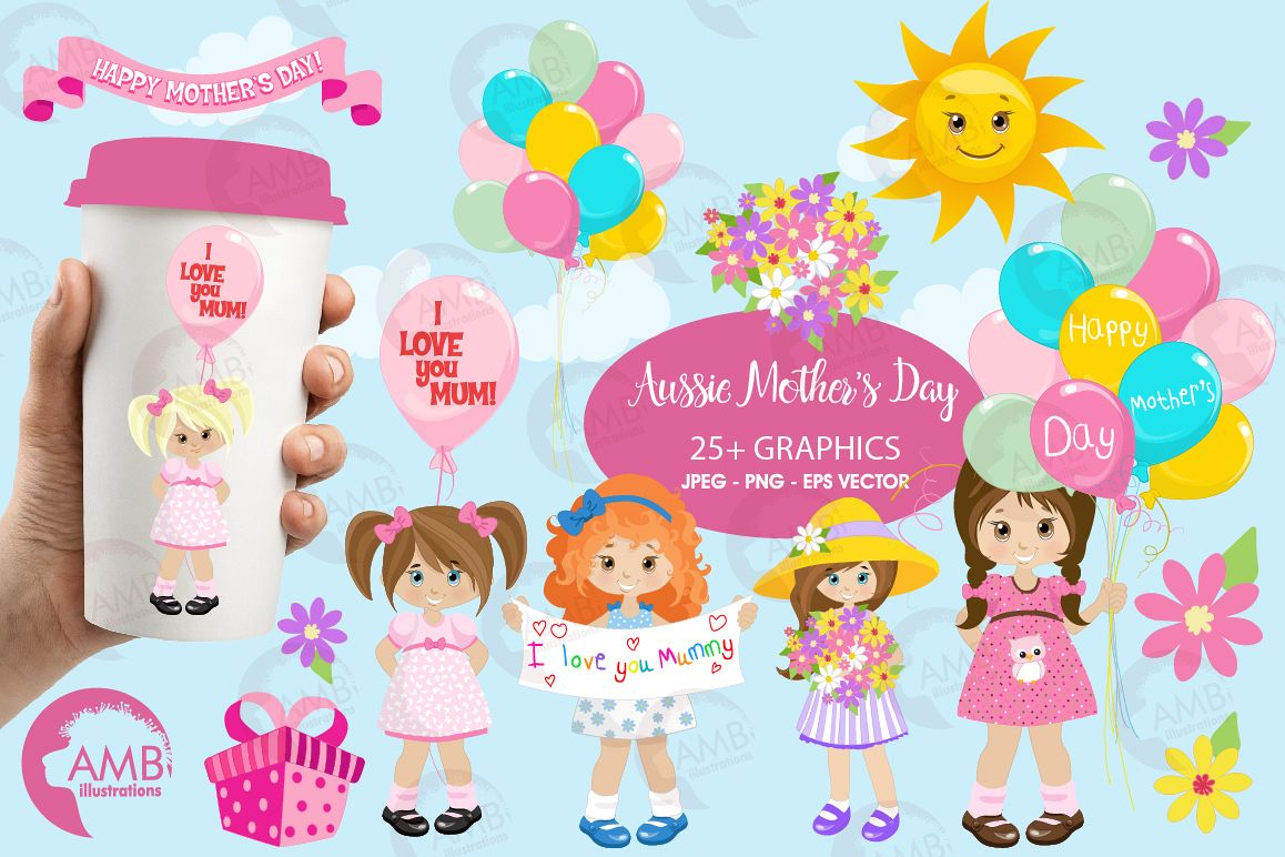 Mothers Day graphics, clipart, illustrations AMB-1934 example image 1