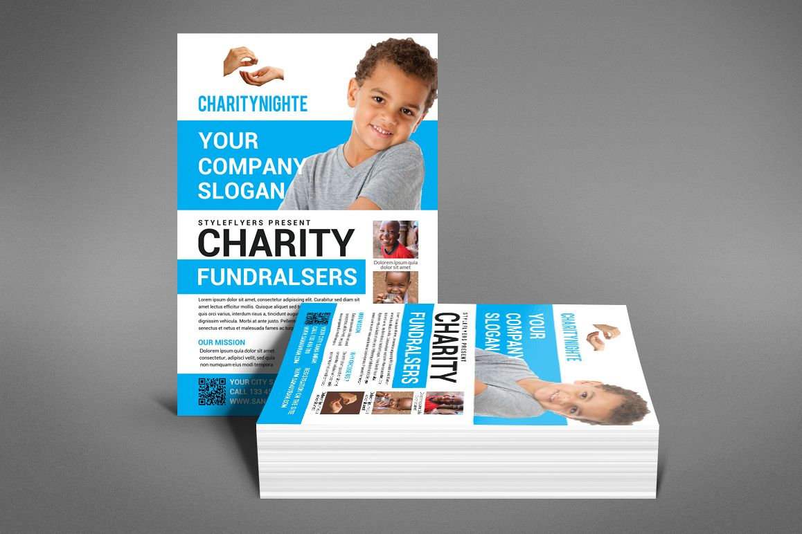 Charity Night Fundraisers Flyer example image 1