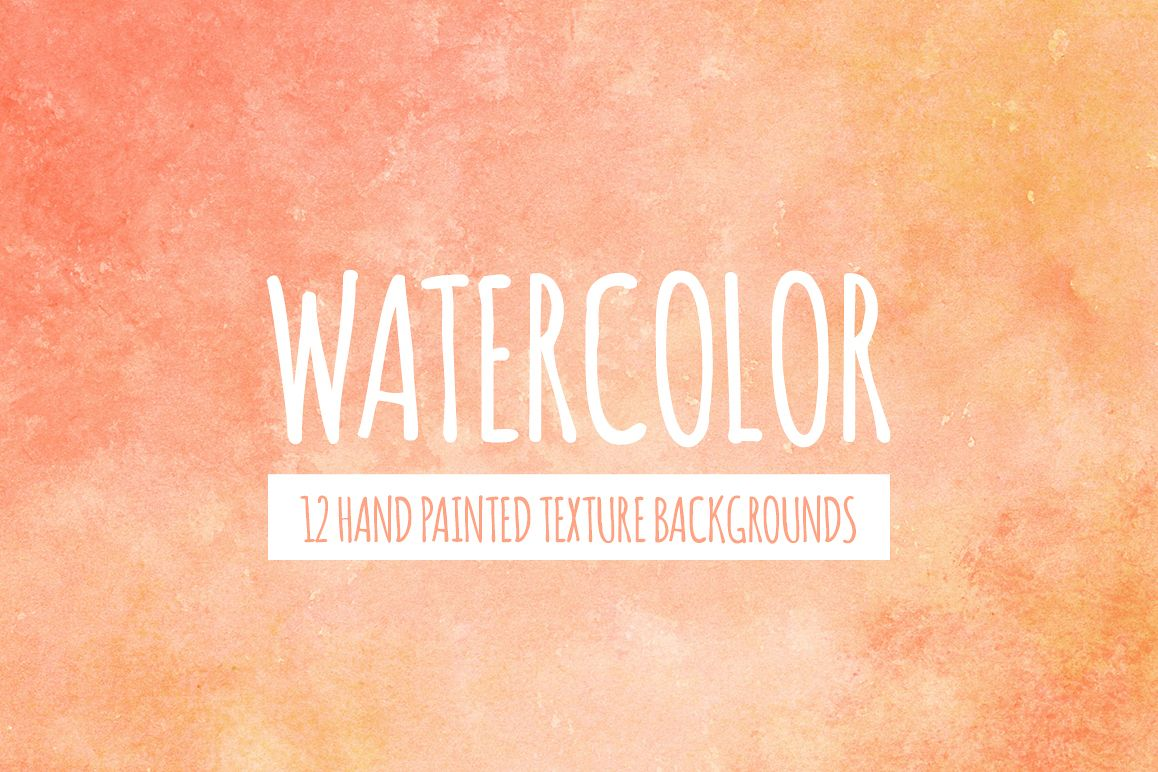 Peach and Orange Watercolor Texture Backgrounds example image 1