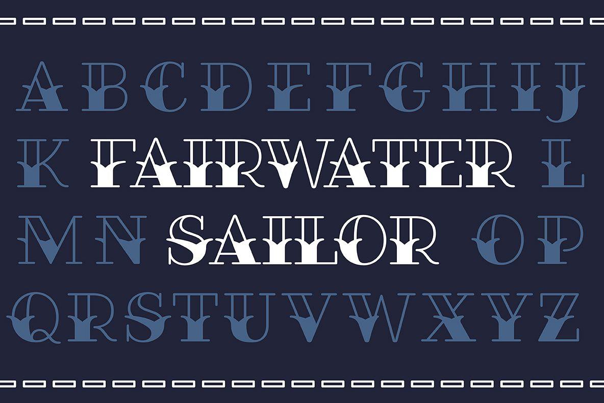 Fairwater Sailor Serif example image 1