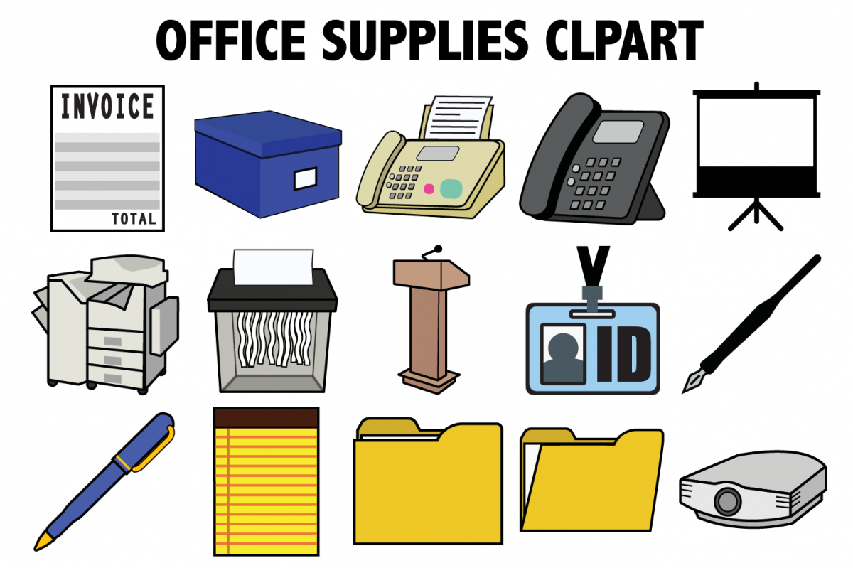 Office Supplies Clipart example image 1