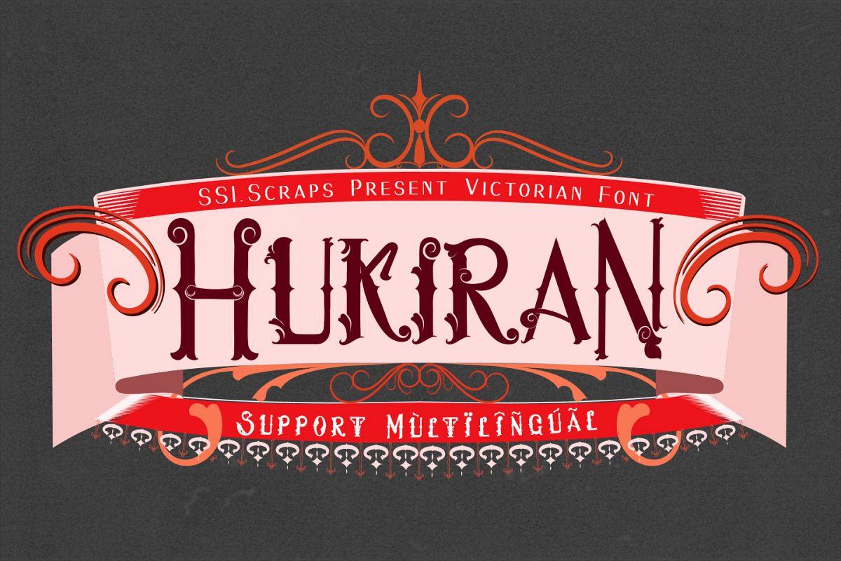 Hukiran Victorian Font example image 1
