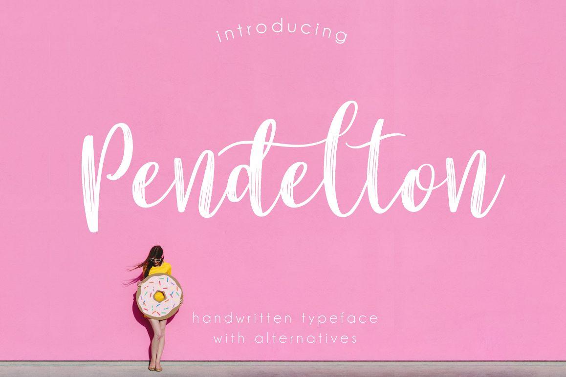 Pendelton Script example image 1