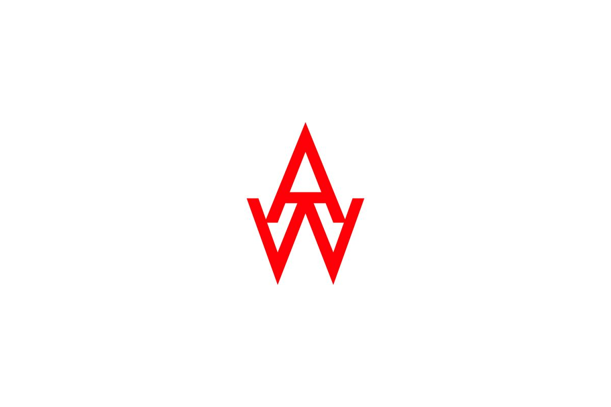 aw letter logo example image 1