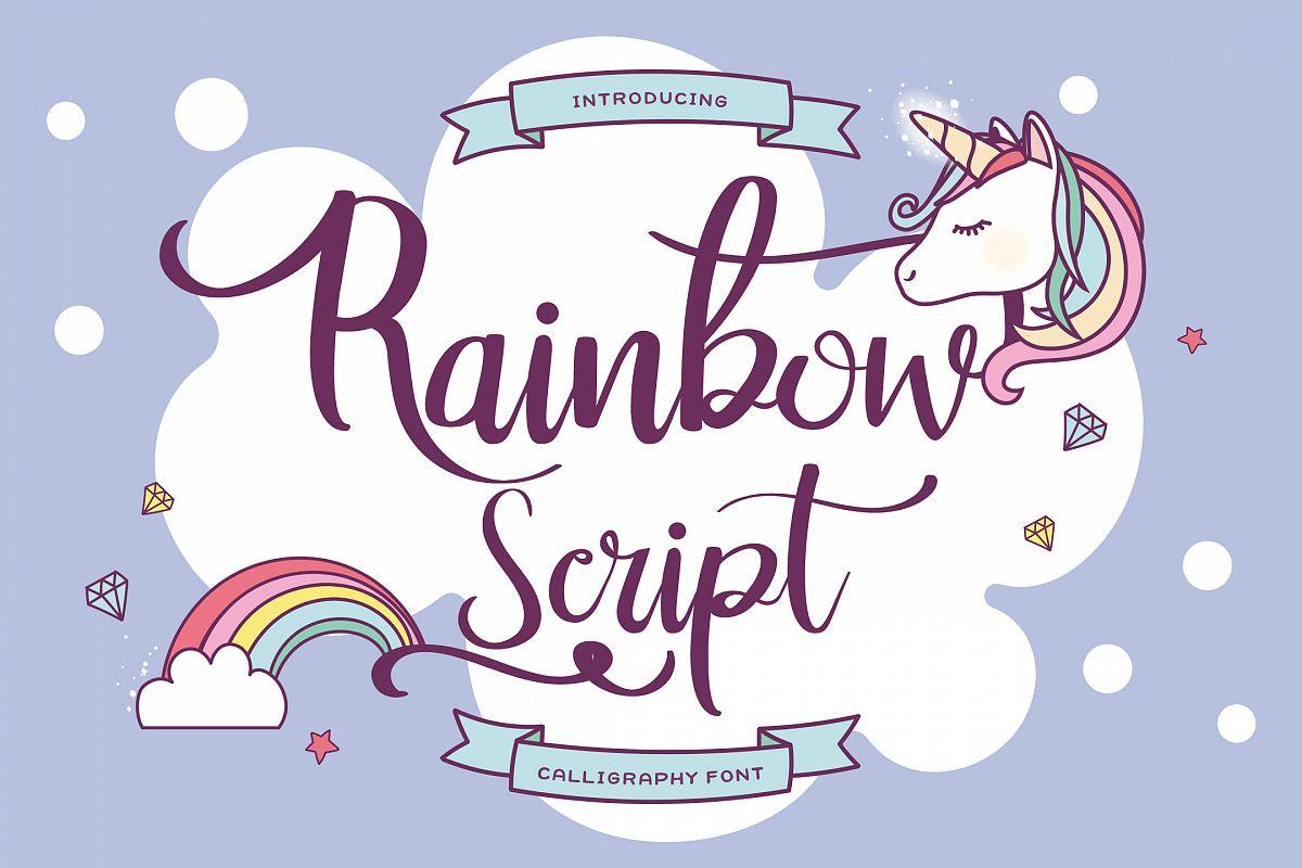 Rainbow Script example image 1