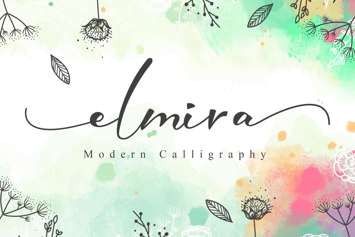 Elmira Script example image 1