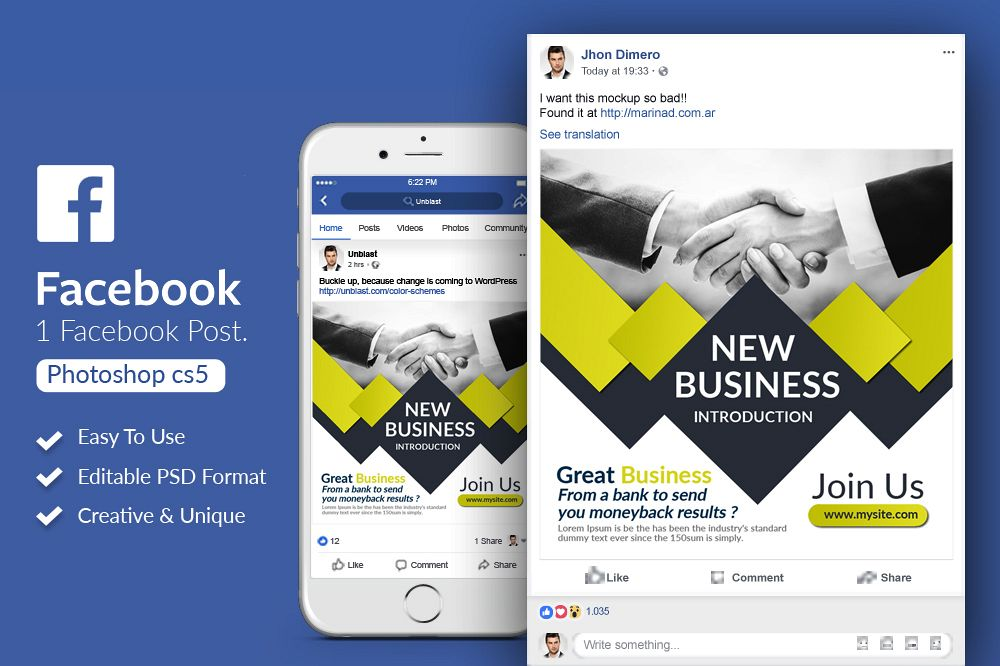 Business Facebook Post Banner example image 1