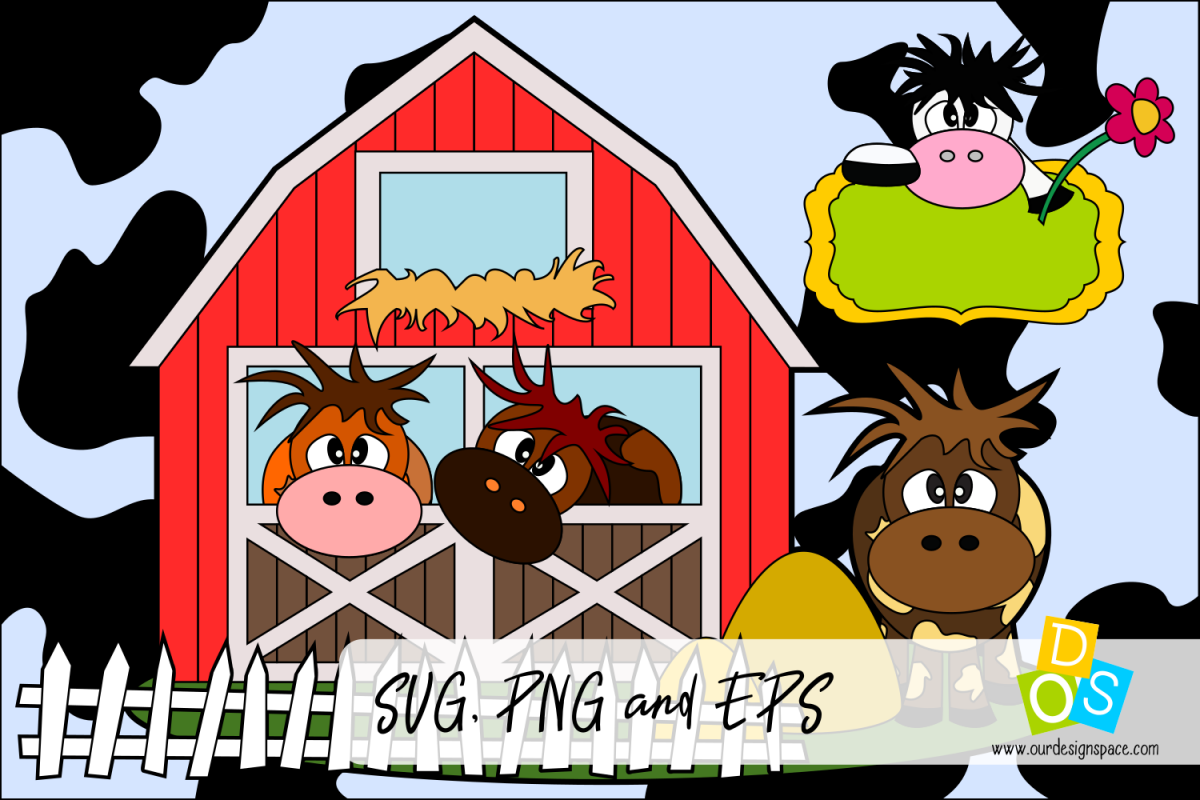 Cows SVG PNG And EPS Cutting File Example Image 1
