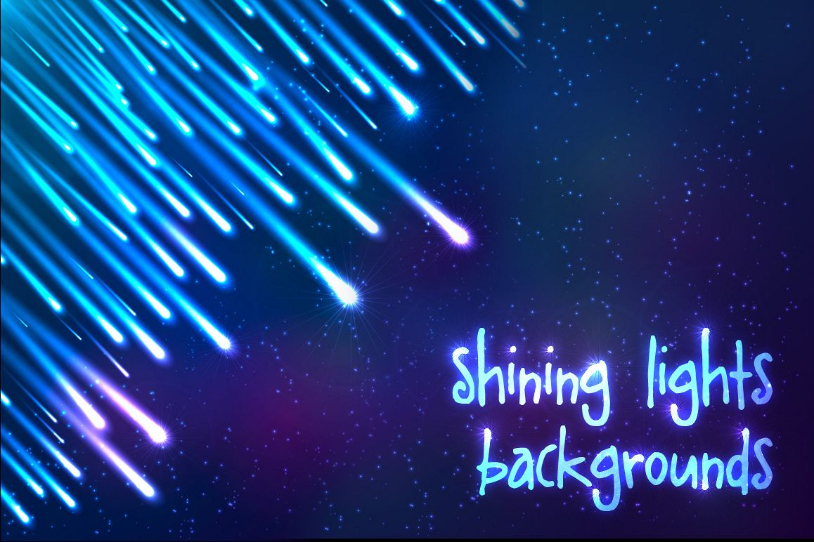 6 shining cosmic lights backgrounds example image 1