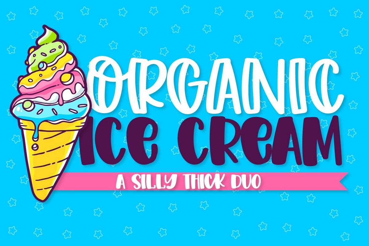 Organic Ice Cream - A Thick Cut Friendly Duo! example image 1