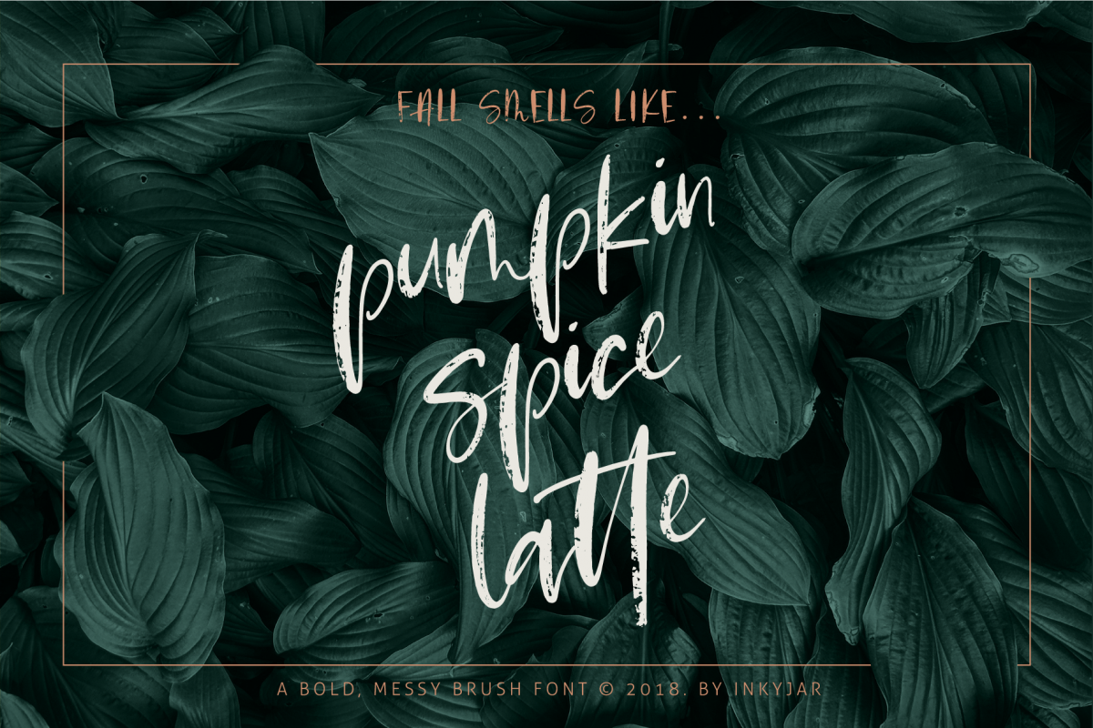 Pumpkin Spice Latte | Brush Script example image 1