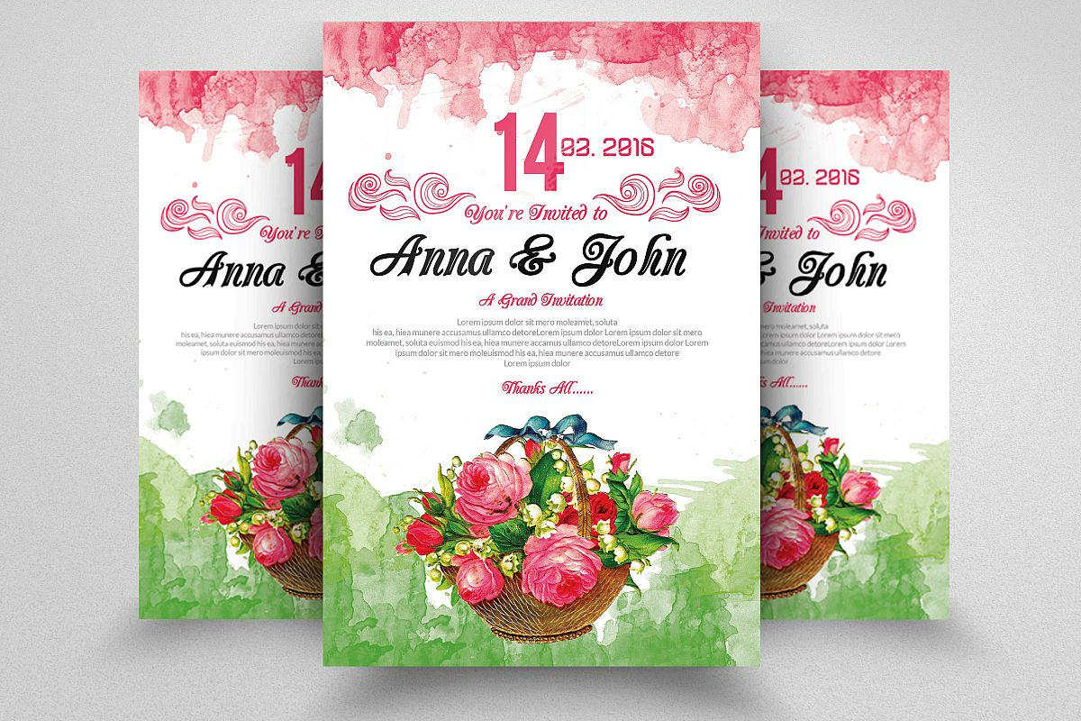 Floral Wedding Flyer example image 1