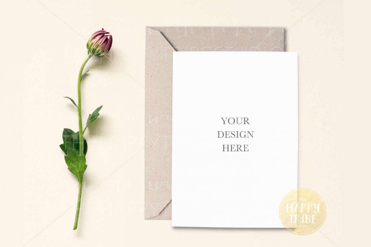 Card Mockup Invitation Mockup Wedding