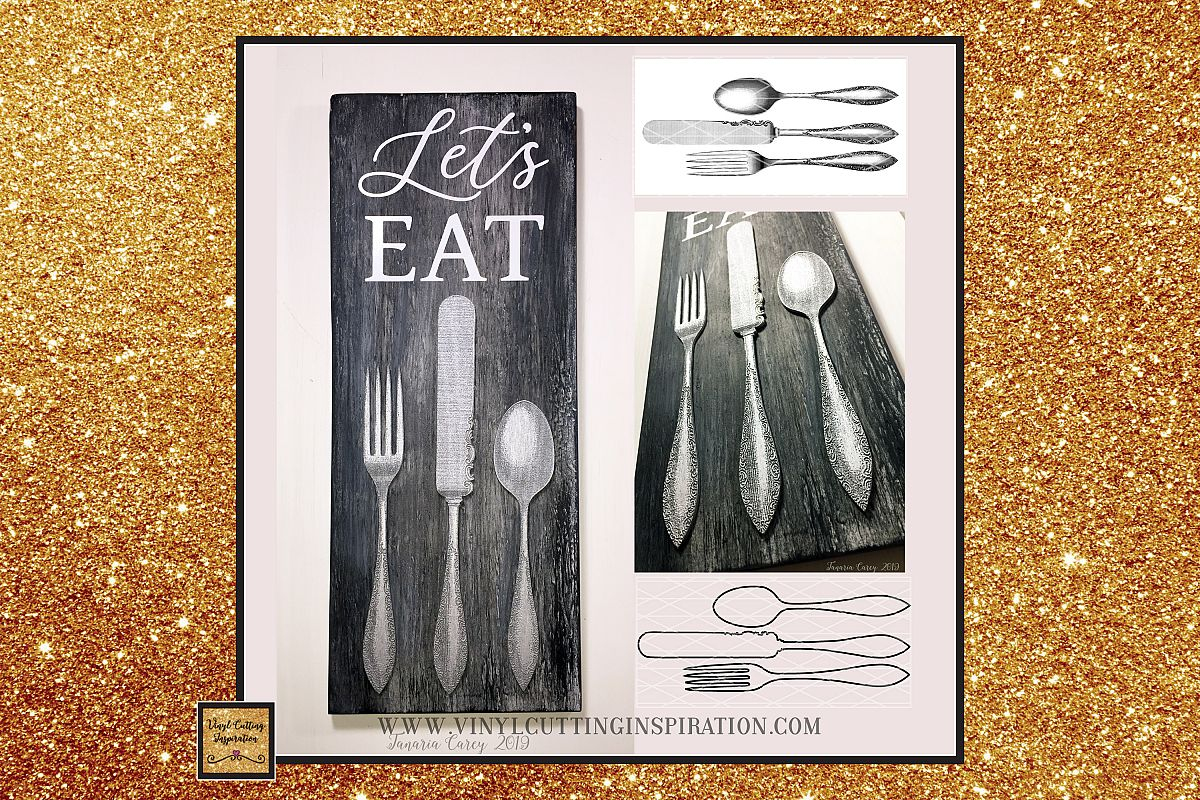 Spoon and Fork - Farmhouse Kitchen Svg, Country Svg, dxf example image 1