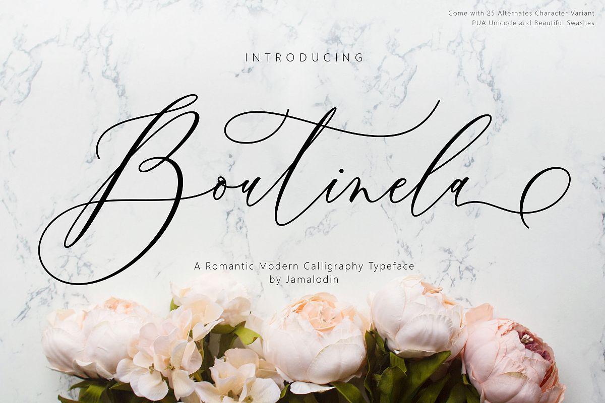 Boutinela Script example image 1