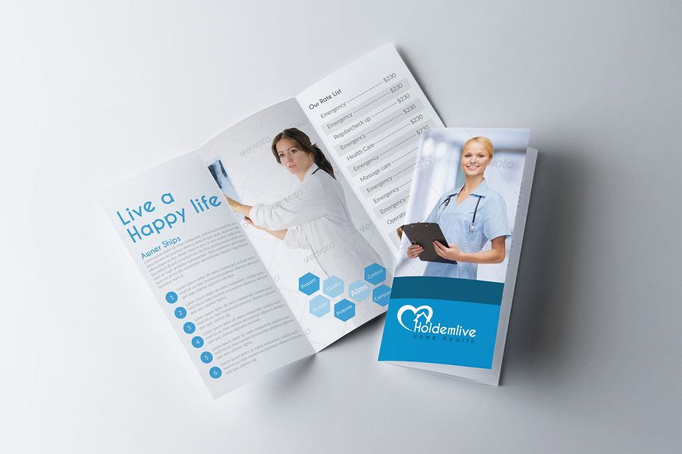 Medical Doctor Trifold Brochure example image 1