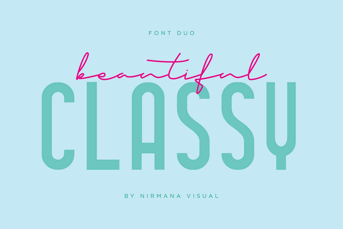 Classy Beautiful - Font Duo example image 1
