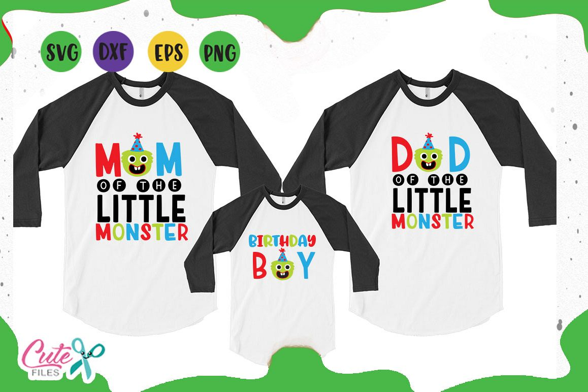 Family monster a birthday svg files example image 1