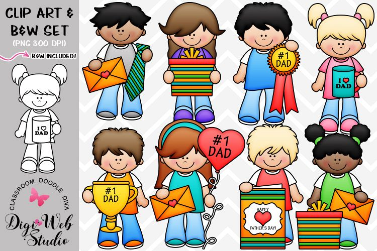 Clip Art / Illustrations - Father's Day Kids example image 1