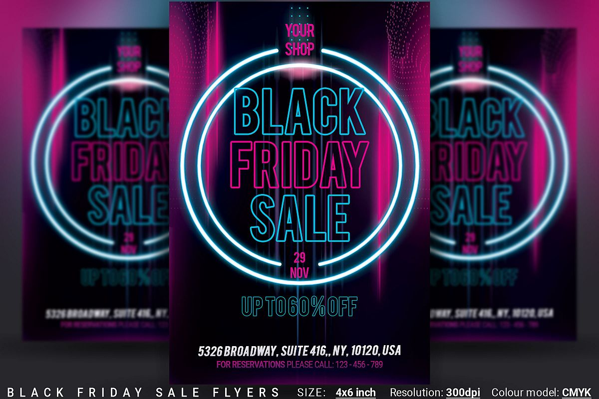Black Friday Sale Flyers example image 1