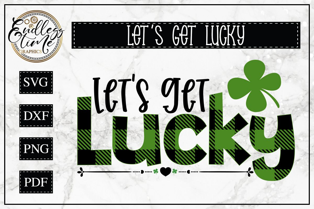 Let's Get Lucky - A Buffalo Plaid St Paddy's Design example image 1