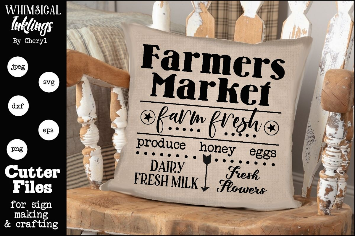 Farm Fresh Farmers Market SVG example image 1