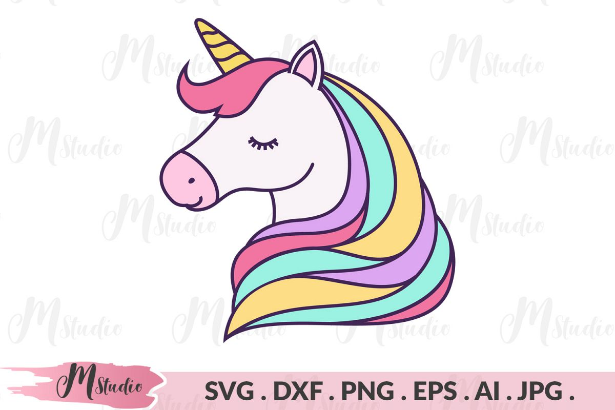 Unicorn Head svg example image 1
