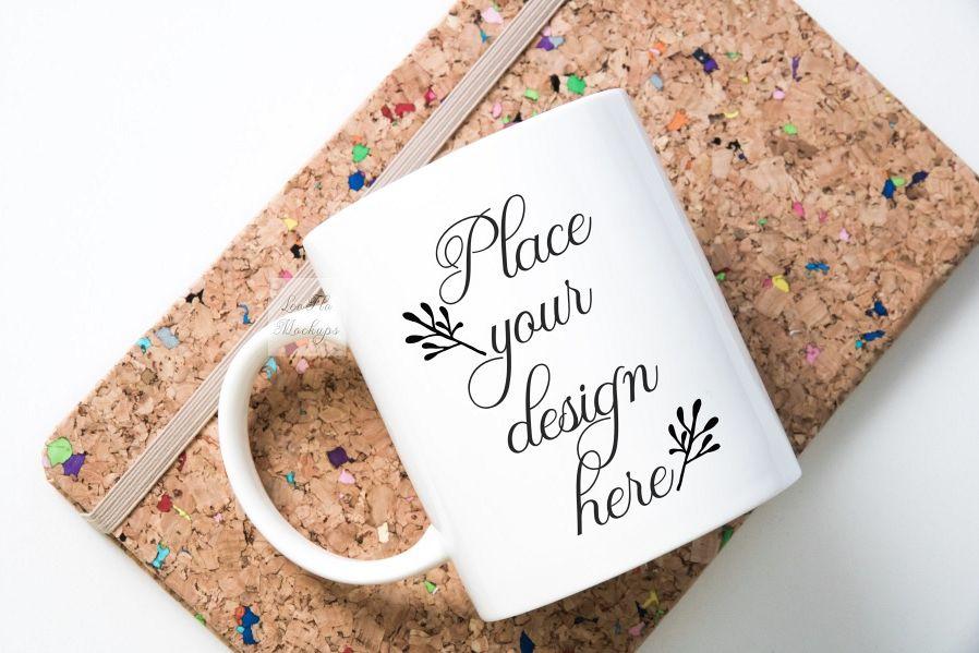 Mug mockup modern flatlay sublimation 11oz cup mock up example image 1