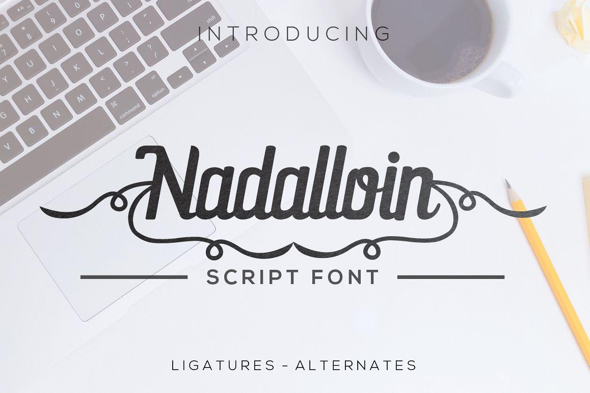 Nadalloin font example image 1