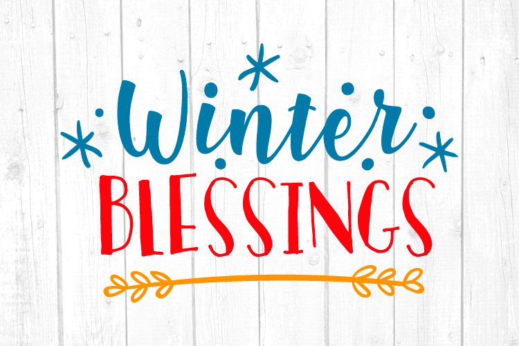 Winter Blessings Svg, Christmas, Christmas Svg, Home Decor example image 1