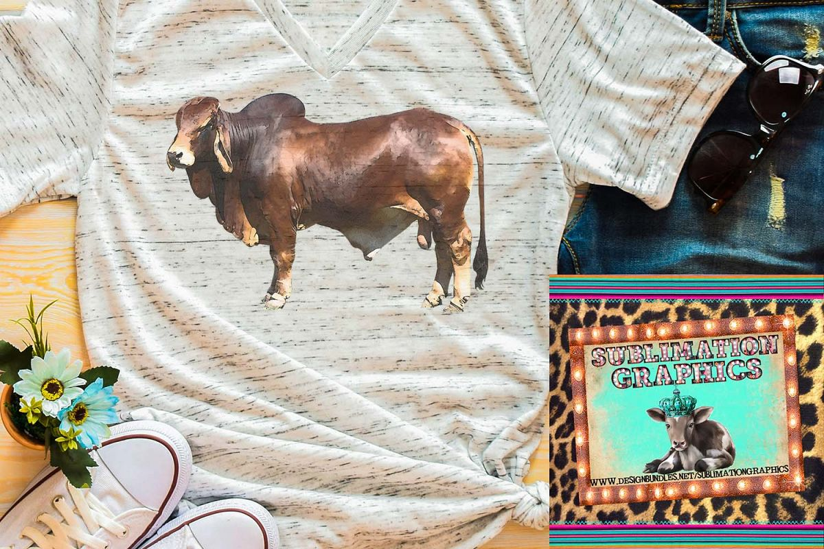Brahman Bull Sublimation Download example image 1