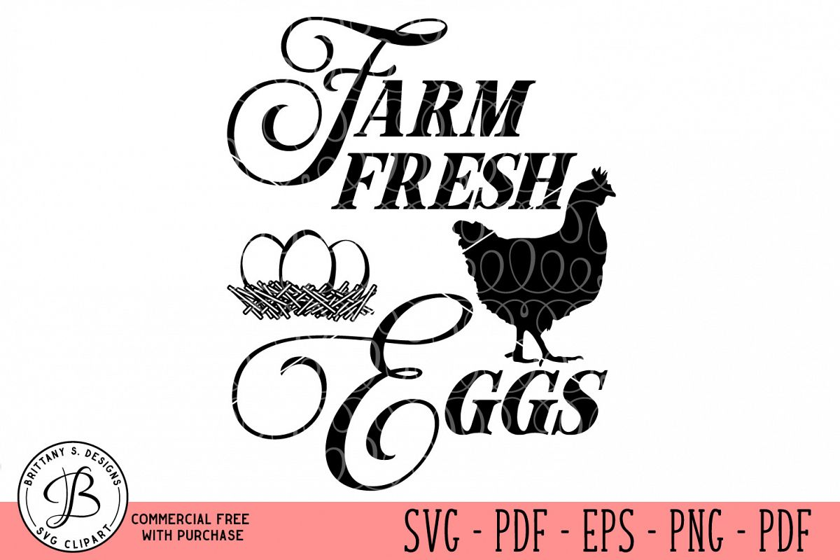 Farm Fresh Eggs SVG example image 1