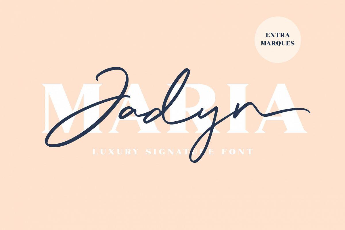 Jadyn Maria - Luxury Signature Font example image 1