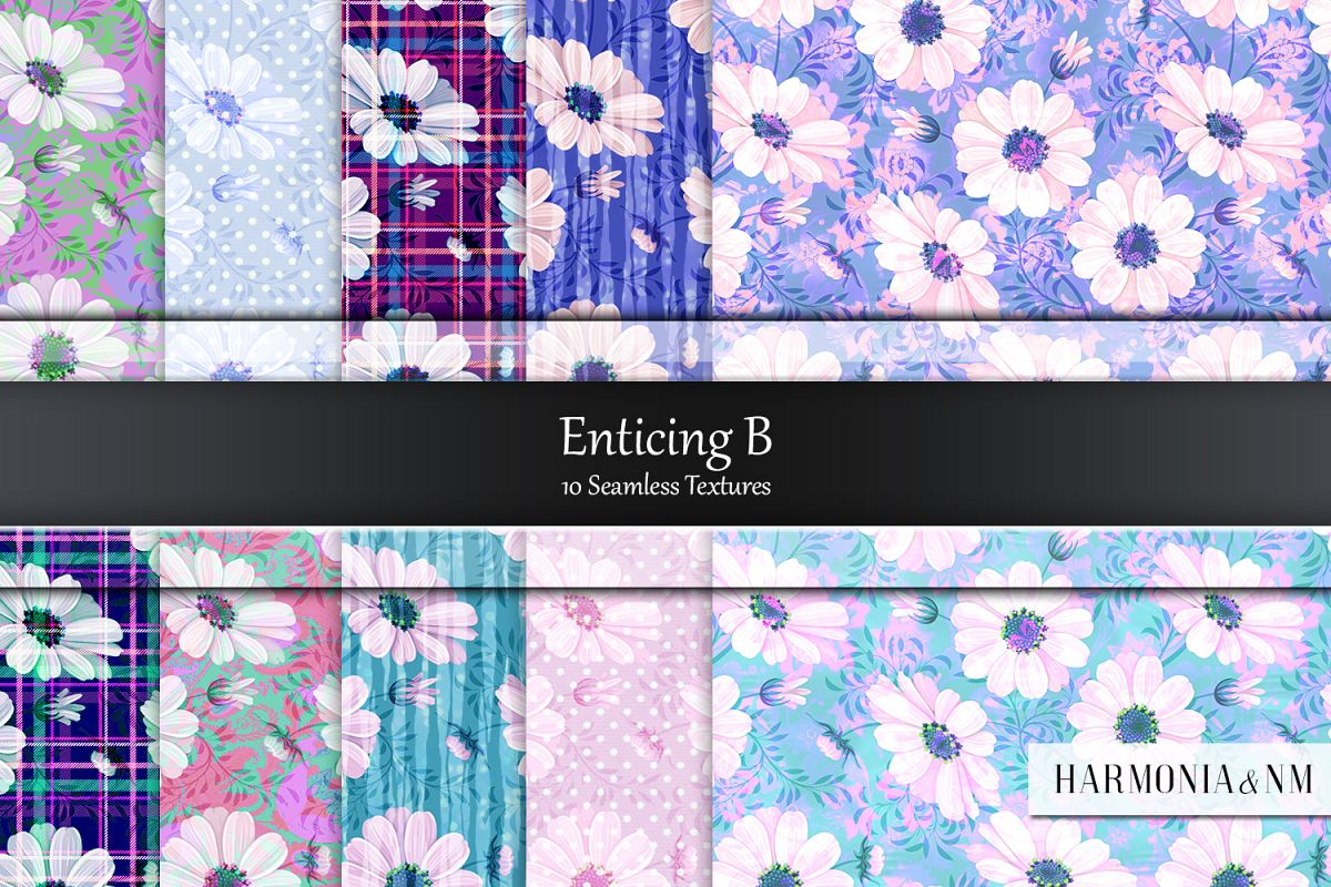 Enticing Set B 10 Seamless Textures example image 1