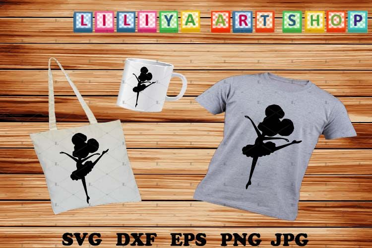 Afro Ballerina silhouettes, Ballerina svg,Black history svg example image 1