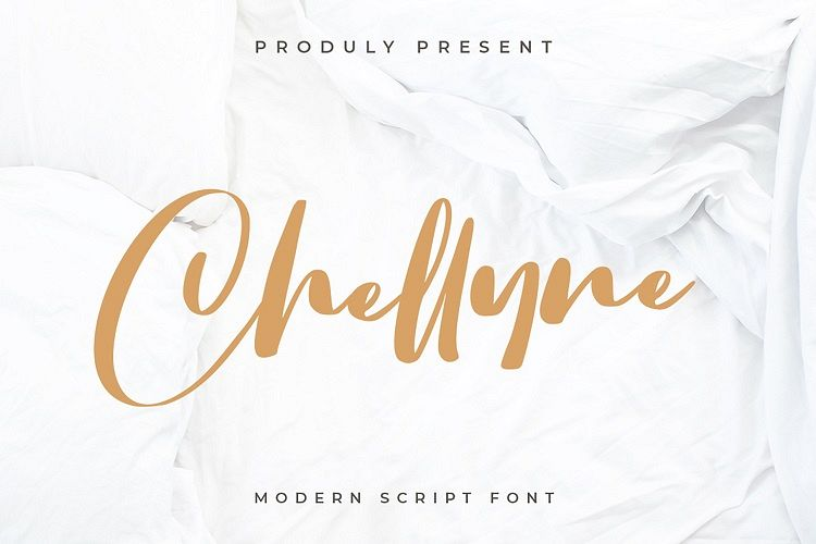 Chellyne - Modern Script Font example image 1