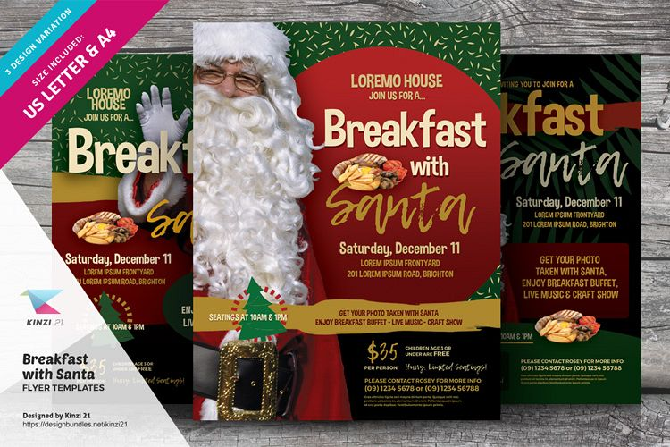 Breakfast With Santa Flyer Templates example image 1