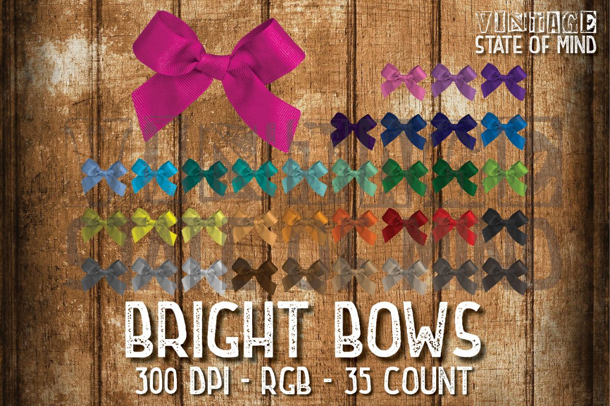Bright Bows Sublimation Graphics example image 1