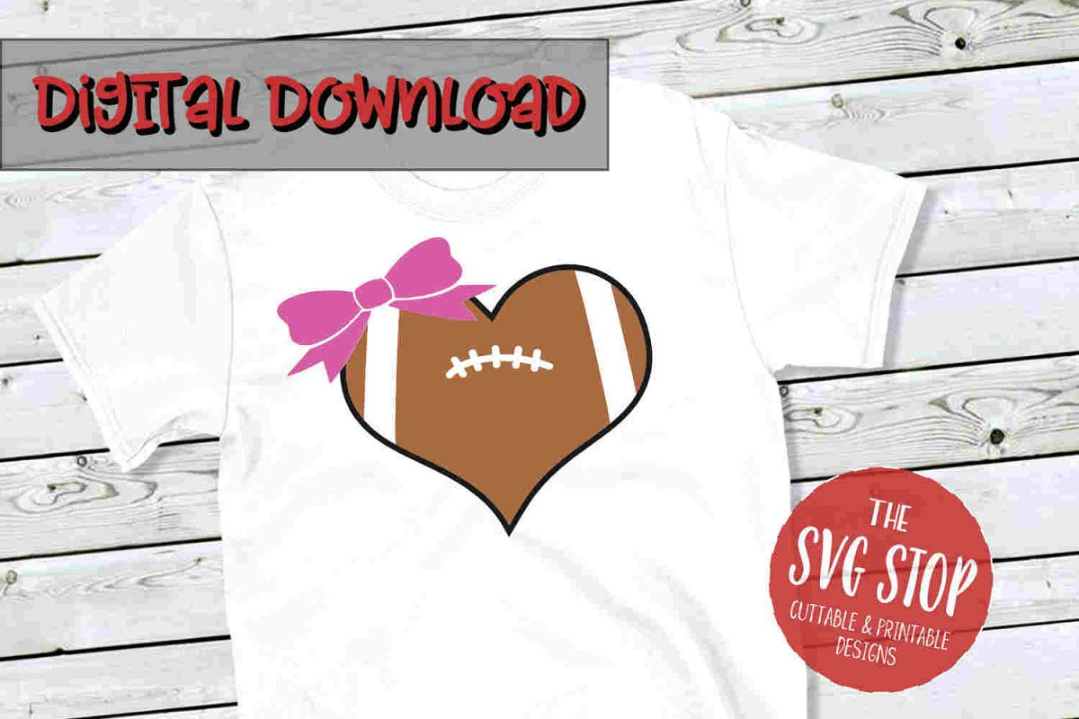 Heart Football -SVG, PNG, DXF example image 1