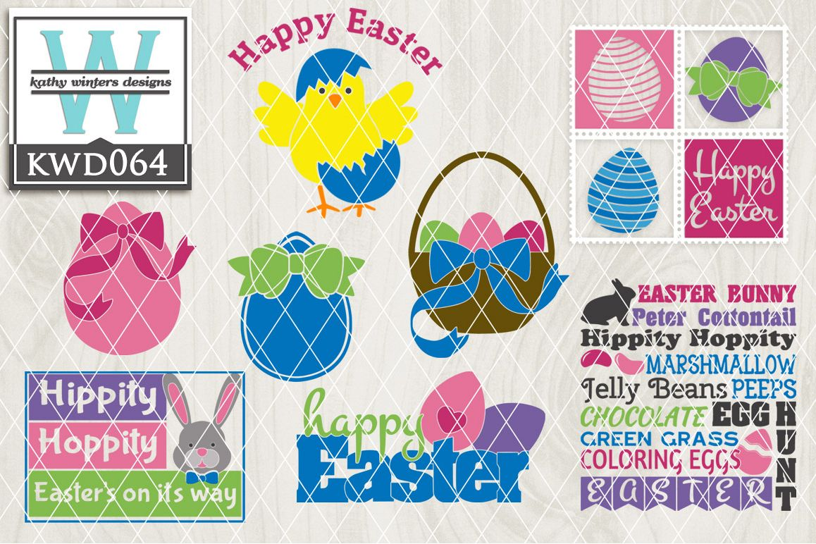 Easter Cutting File KWD064 example image 1