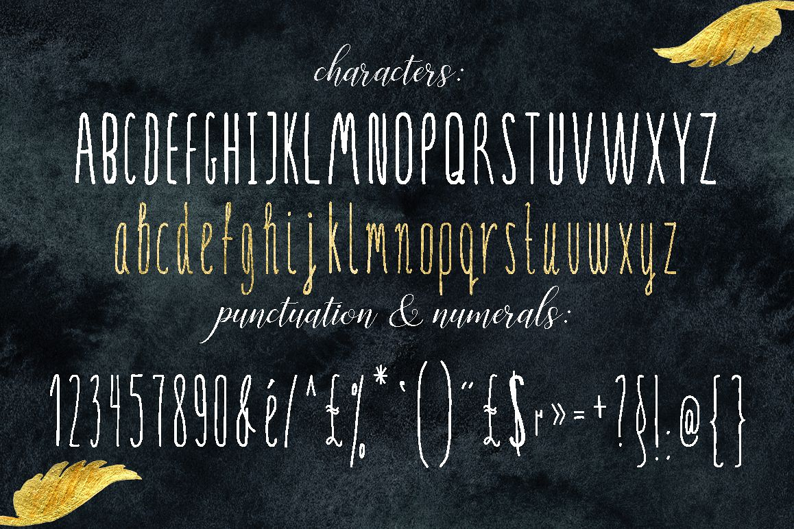 SERENA gold. Font example image 1