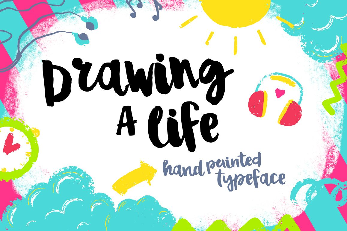 Drawing a Life - Brush Font example image 1