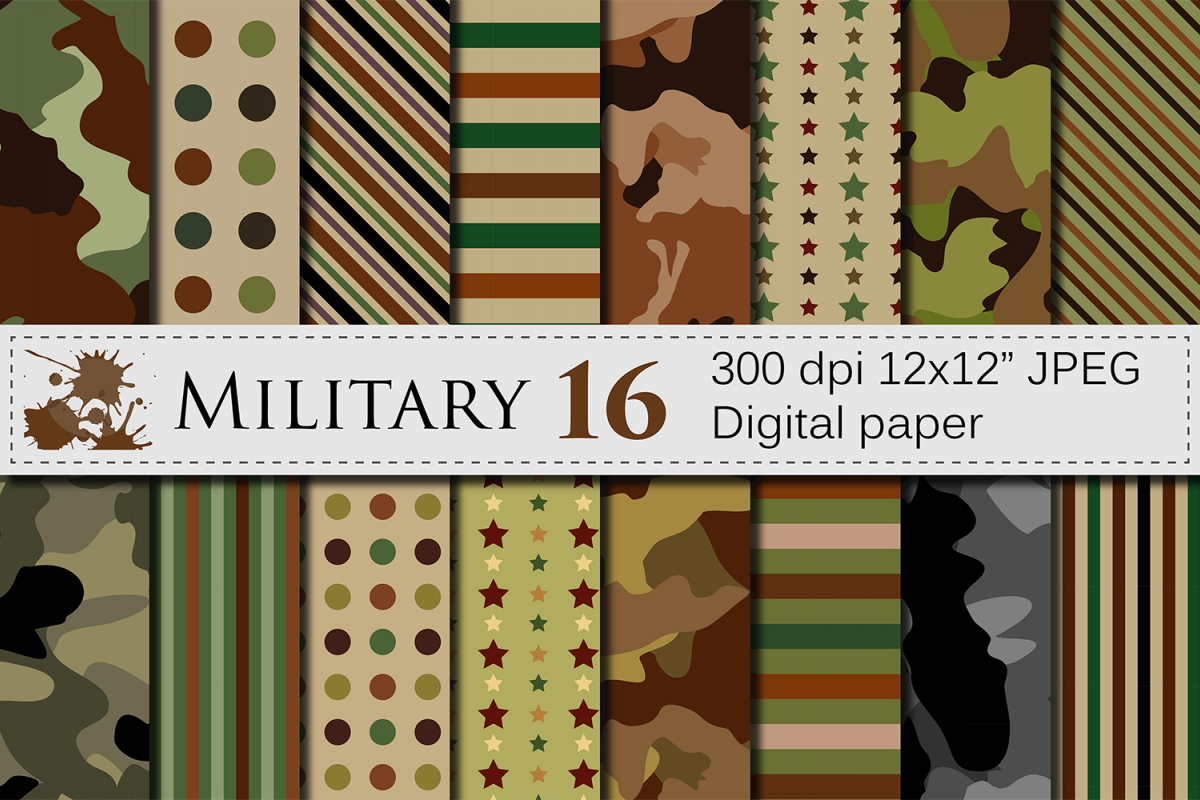 Military Digital Paper Army Patterns Camouflage Backgrounds