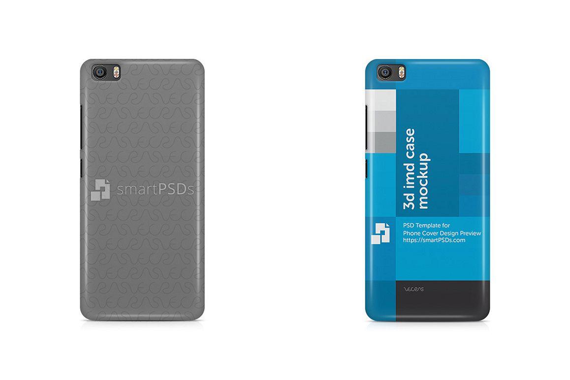 Xiaomi Mi5 3d IMD Mobile Case Design Mockup 2016 example image 1
