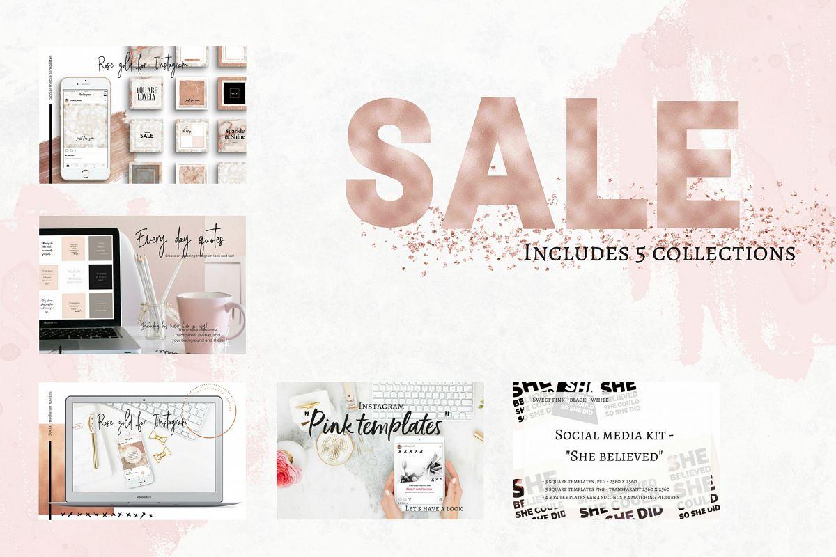 Sale - 5 social media bundles example image