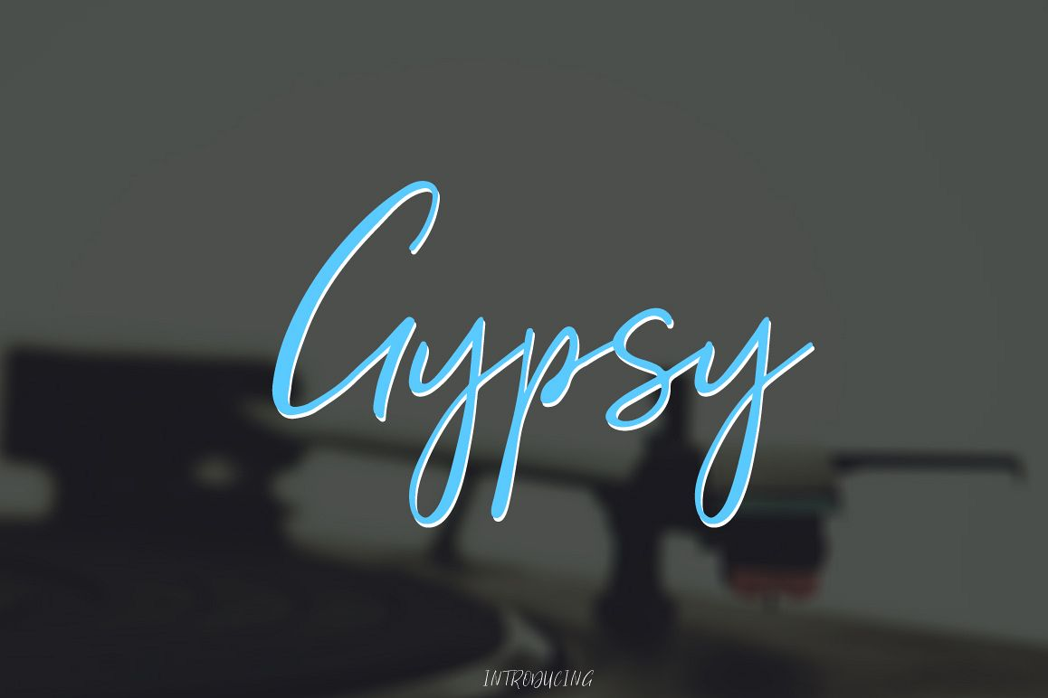 Gypsy Script Font example image 1