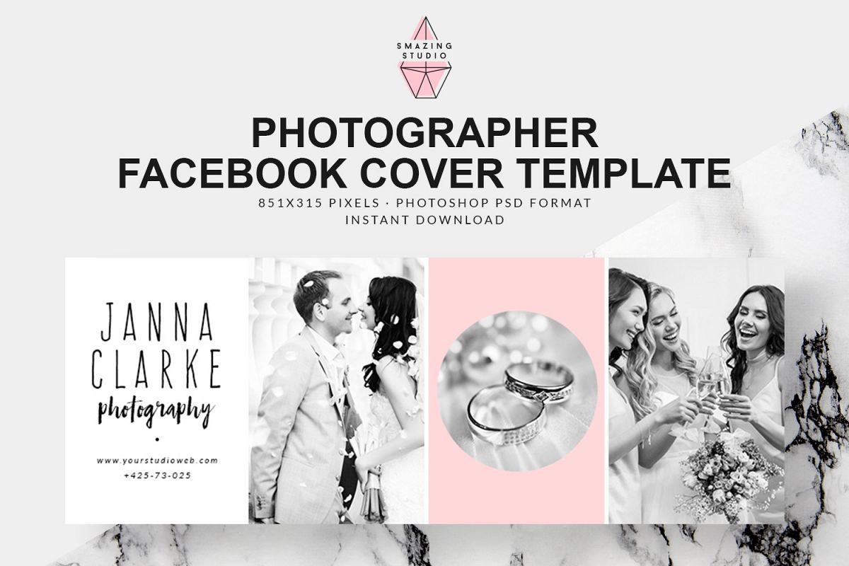 Photographer Facebook Cover Template - FBC011 example image 1