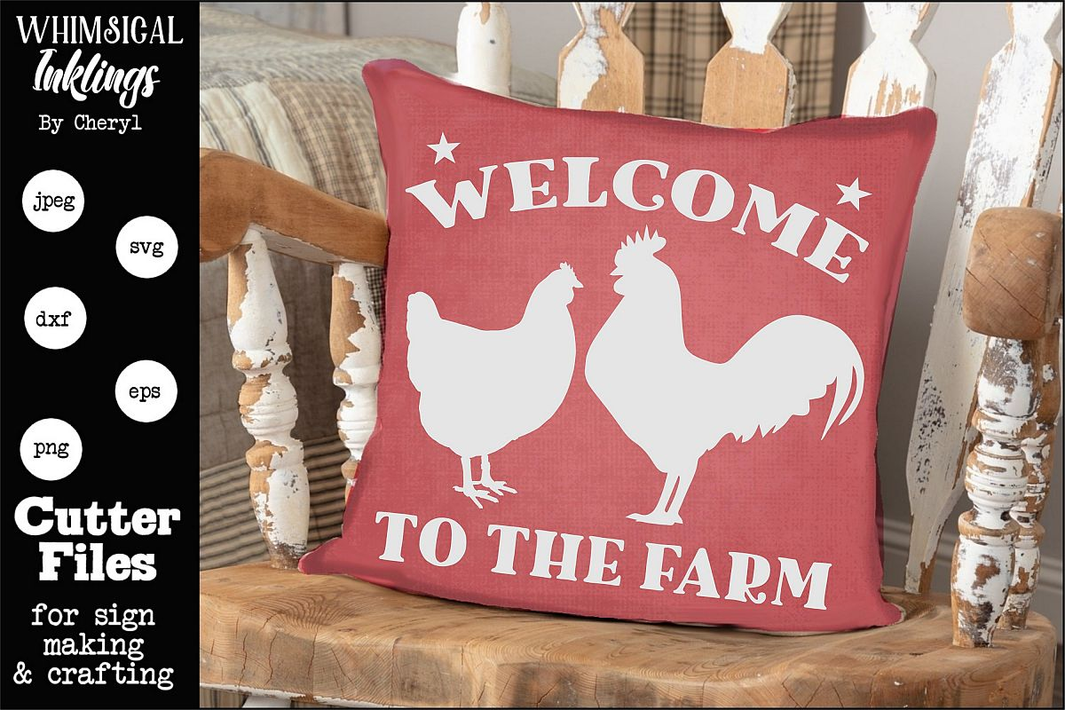 Welcome To The Farm-Rooster SVG example image 1